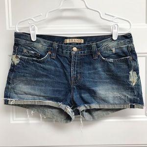 J Brand Selvage Cuffed Jean Shorts